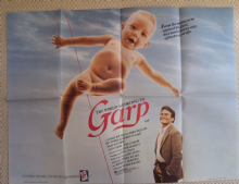 World According to Garp, UK Quad Poster, Robin Williams, Glenn Close, '82